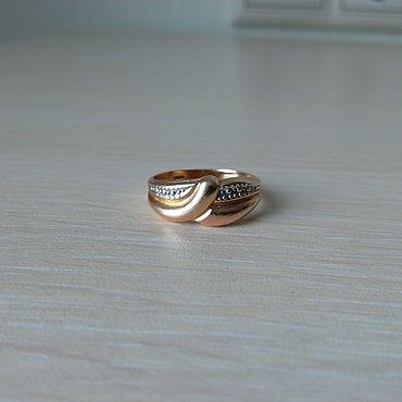Винтаж ручной работы. Ярмарка Мастеров - ручная работа Винтажные кольца: Кольцо золотое. Handmade.