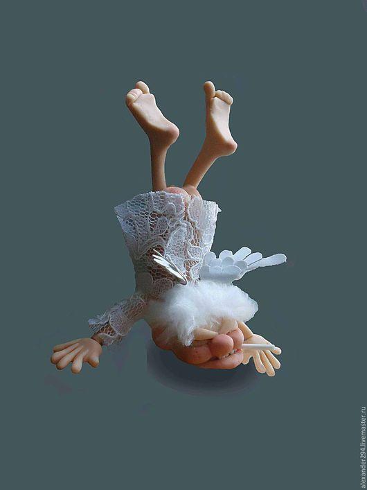Миниатюра ручной работы. Ярмарка Мастеров - ручная работа. Купить Падший ангел. Handmade. Комбинированный, ангел, грех, кукла, миниатюра