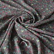Материалы для творчества handmade. Livemaster - original item Chiffon Brown floral. Handmade.