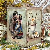 """Подарки к праздникам ручной работы. Ярмарка Мастеров - ручная работа короб для сладостей """"Христосъ Воскресе"""". Handmade."""
