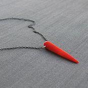 """Украшения ручной работы. Ярмарка Мастеров - ручная работа Камень на цепочке """"Chili pepper"""". Handmade."""