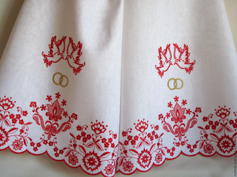 Фото вышитых рушников на свадьбу