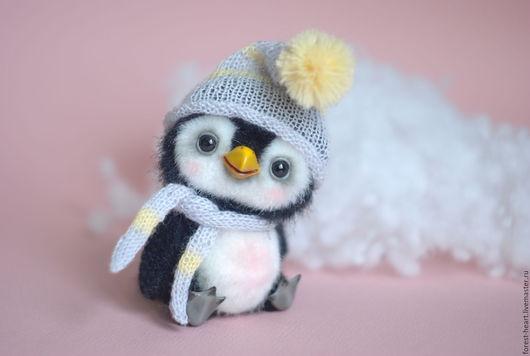 Мишки Тедди ручной работы. Ярмарка Мастеров - ручная работа. Купить Пингвинчик Sunny (Солнышко) коллекционная авторская игрушка тедди. Handmade.
