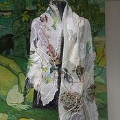 """Аксессуары ручной работы. Ярмарка Мастеров - ручная работа Яга шарф """"Весеннее утро"""". Handmade."""