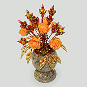 Цветы и флористика handmade. Livemaster - original item Flowers from amber