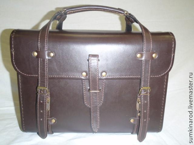 7d997486d478 Мужские сумки ручной работы. Ярмарка Мастеров - ручная работа. Купить  Кожаная сумка кофр.