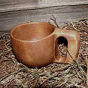 Посуда handmade. Livemaster - original item Mugs: Mug-Kuksa from aspen. Handmade.