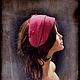 """Шляпы ручной работы. Ярмарка Мастеров - ручная работа. Купить Шляпка ободок """" Фуксия"""". Handmade. Фуксия, шляпка женская"""