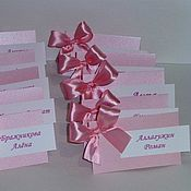 Открытки ручной работы. Ярмарка Мастеров - ручная работа Банкетные - рассадочные карточки для гостей.. Handmade.