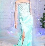 Работы для детей, handmade. Livemaster - original item Fancy dress Princess Elsa. New year carnival costume. Handmade.