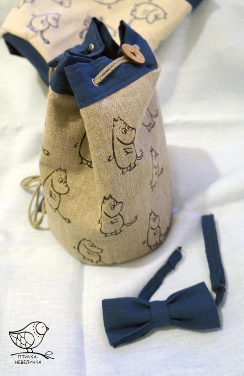 Рюкзаки ручной работы. Ярмарка Мастеров - ручная работа. Купить детский рюкзачок с муми-троллями. Handmade. Рисунок, подарок девочке