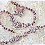 Украшения handmade. Livemaster - original item Beaded jewelry, crystals, beads Set