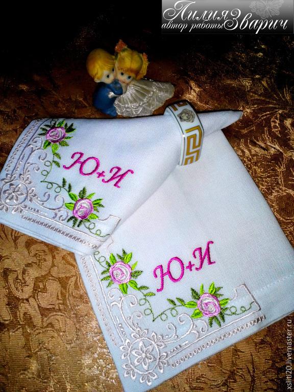 Вышивка для салфеток столовых