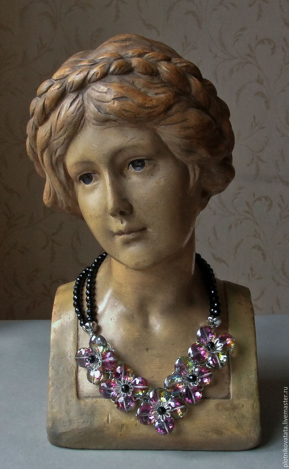 'Flower' necklace and earrings of crystals, Necklace, St. Petersburg,  Фото №1