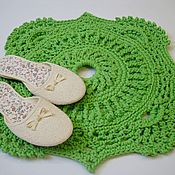 Для дома и интерьера handmade. Livemaster - original item The bedside Mat is handmade from cord Baby. Handmade.