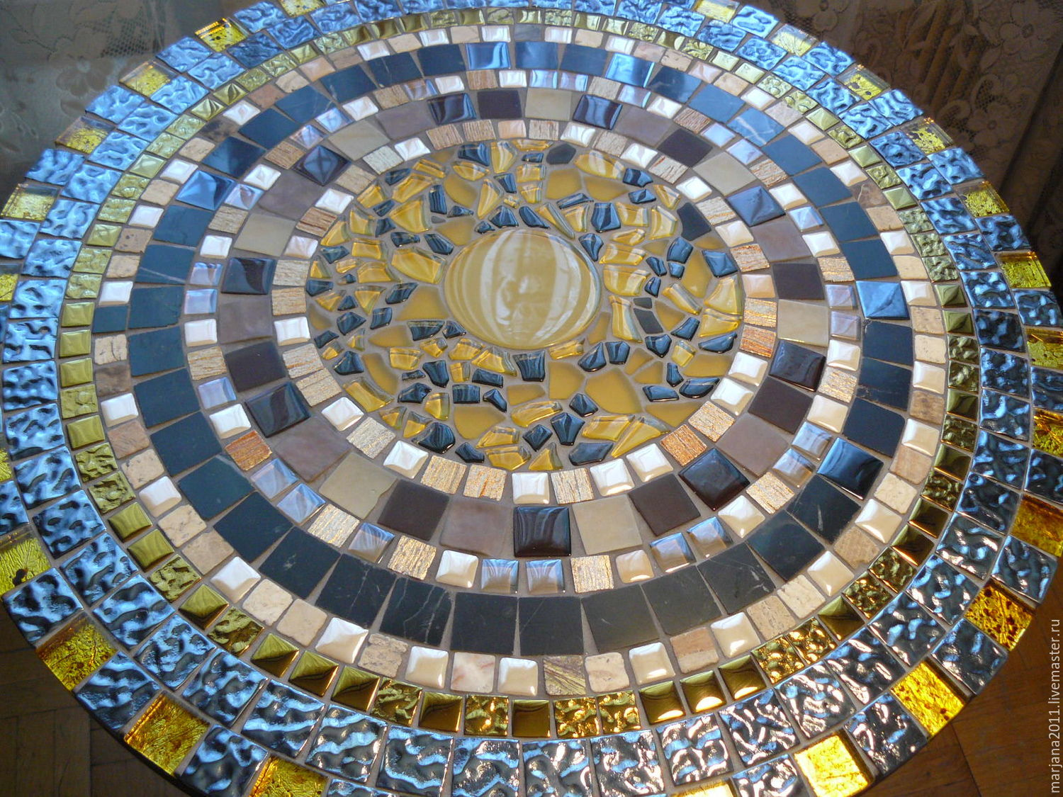 Table with a mosaic of 'Palace intrigues', Tables, Moscow,  Фото №1