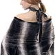 """Большие размеры ручной работы. Пончо-палантин-жилет безразмерный """"Шиншилла с кружевом"""" сразу на 4 раз. Одежда для женщин шикарных размеров (seanna12). Ярмарка Мастеров."""