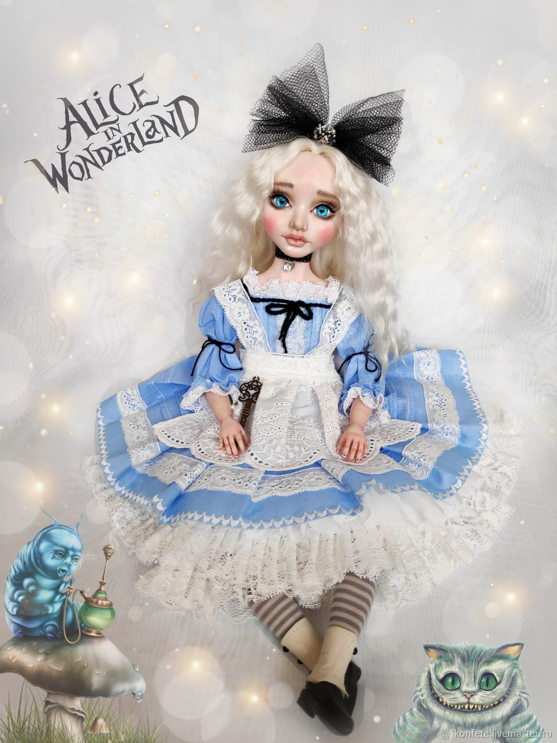 Alice in Wonderland Alice Doll handmade Doll made of plastic, Dolls, Nizhny Novgorod,  Фото №1