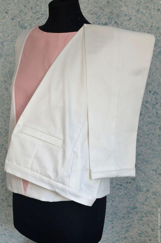 Брюки, шорты ручной работы. Ярмарка Мастеров - ручная работа. Купить Брюки + блуза. Handmade. Белый, брюки, блуза