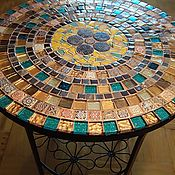 Для дома и интерьера handmade. Livemaster - original item TABLES: Table with mosaic