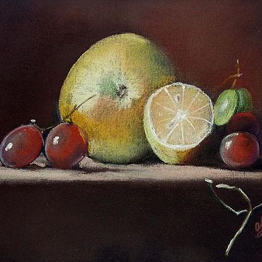 """Картины и панно ручной работы. Ярмарка Мастеров - ручная работа Картина с фруктами """"Фруктовый натюрморт"""" пастель. Handmade."""