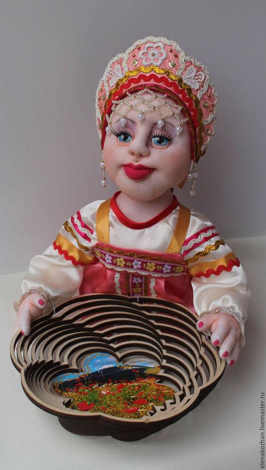 Персональные подарки ручной работы. Ярмарка Мастеров - ручная работа. Купить Кукла в русском народном костюме. Конфетница в розовом.. Handmade.