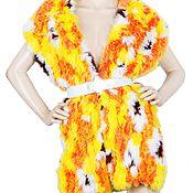 Аксессуары handmade. Livemaster - original item Bright multicolored scarf made of natural rabbit fur. Handmade.