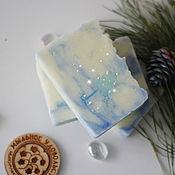 Косметика ручной работы handmade. Livemaster - original item Soap Christmas natural from scratch gift for The new year blue. Handmade.