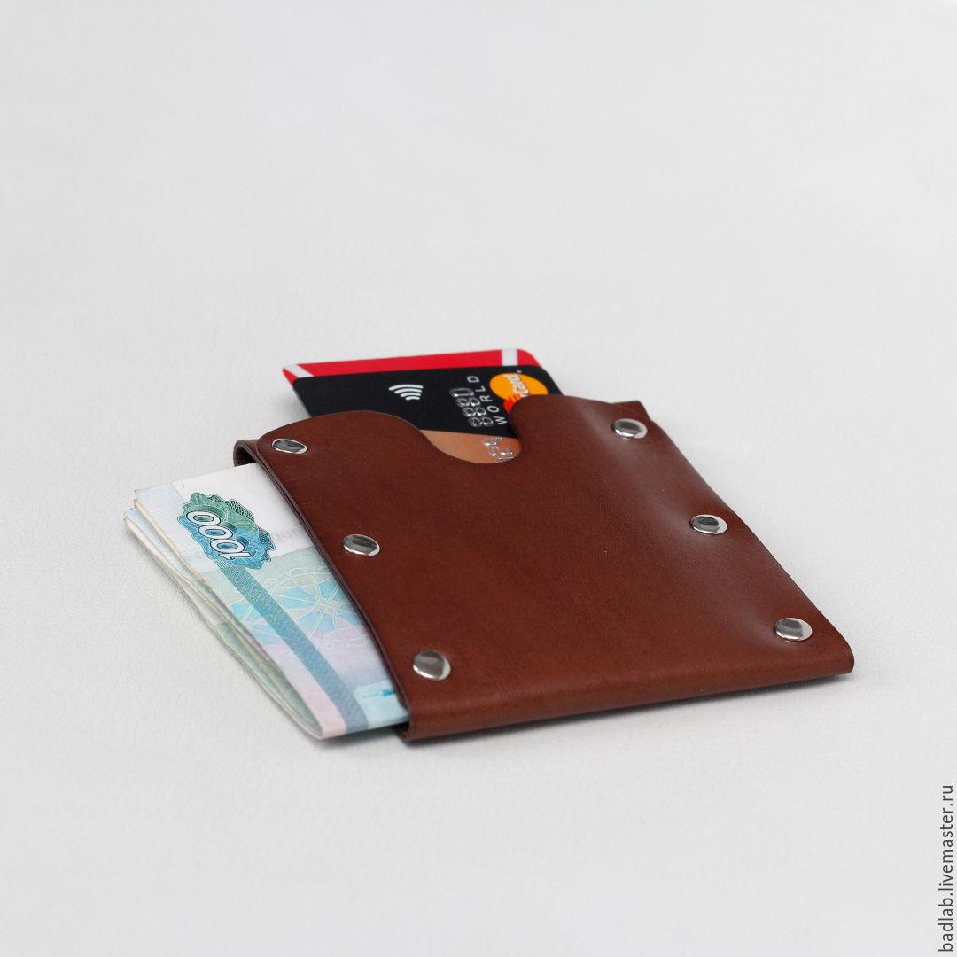 b6e733972b4b Подарки для мужчин, ручной работы. Ярмарка Мастеров - ручная работа. Купить  Кожаный кошелек ...