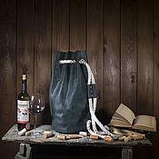 Классическая сумка ручной работы. Ярмарка Мастеров - ручная работа Cумка-рюкзак Гранд-Крю зеленый. Handmade.