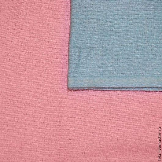 Голубая и розовая фланель. Хлопок 100%. Ткань для шитья и рукоделия. Есть в наличии.