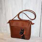 """Классическая сумка ручной работы. Ярмарка Мастеров - ручная работа Женская сумка """"Собачка Маня"""". Handmade."""