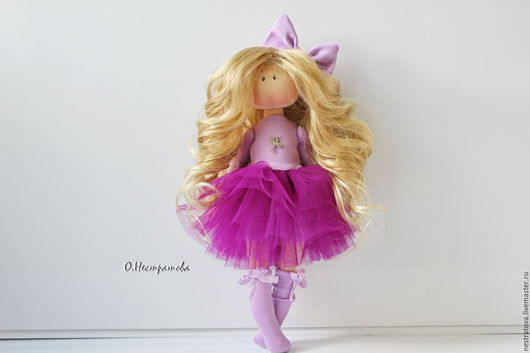 Коллекционные куклы ручной работы. Ярмарка Мастеров - ручная работа. Купить Лавандовая девочка. Интерьерная кукла.. Handmade. Сиреневый, dolls