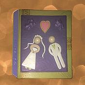 Канцелярские товары ручной работы. Ярмарка Мастеров - ручная работа Свадебный альбом для фотографий. Handmade.