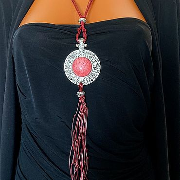 Decorations handmade. Livemaster - original item Boho style pendant, large pendant pendant, massive decoration. Handmade.