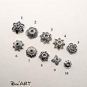 Материалы для творчества handmade. Livemaster - original item Bead caps in stock Art. ShB06. Handmade.