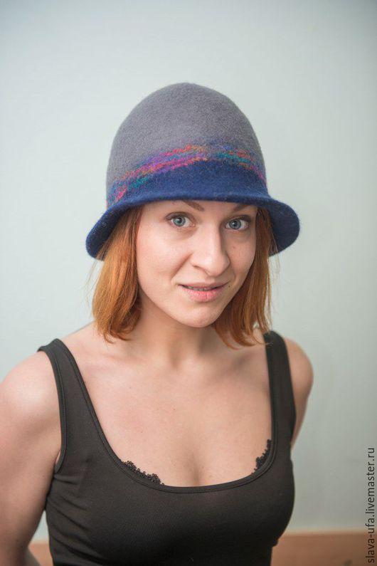"""Шляпы ручной работы. Ярмарка Мастеров - ручная работа. Купить Шляпы  """"Брусничный сад"""". Handmade. Тёмно-синий, шоколадный цвет"""