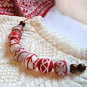 Украшения handmade. Livemaster - original item Felted beads