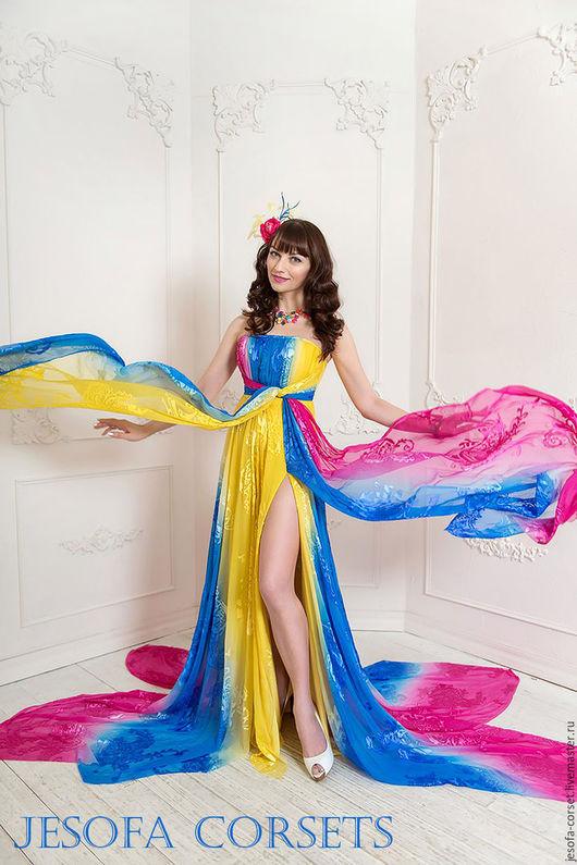 Платья ручной работы. Ярмарка Мастеров - ручная работа. Купить Колибри - вечернее платье с корсетом. Handmade. Комбинированный, диворе