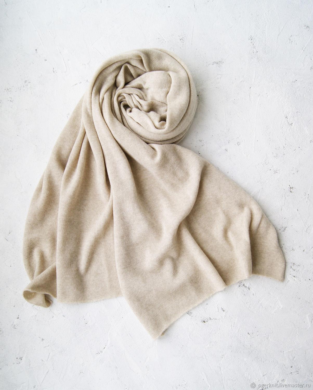 Thin stole 50/200 cm Cold beige, Wraps, Chelyabinsk,  Фото №1