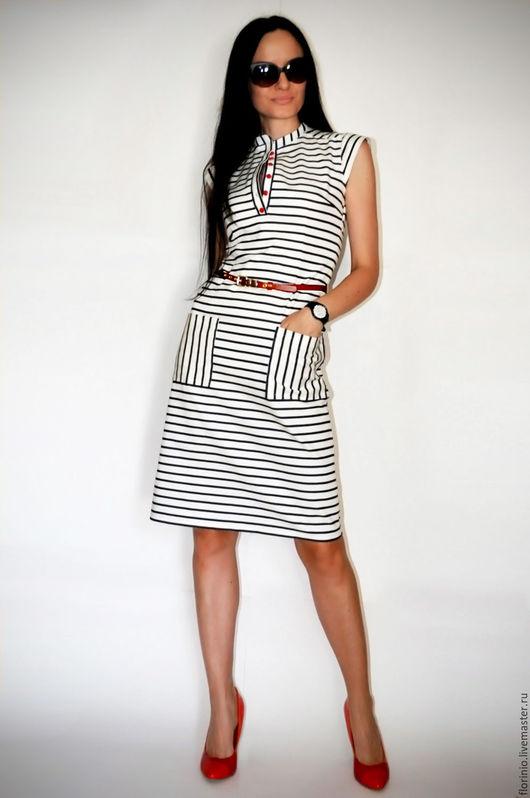 Платья ручной работы. Ярмарка Мастеров - ручная работа. Купить Платье Moni. Handmade. Комбинированный, платье в полоску