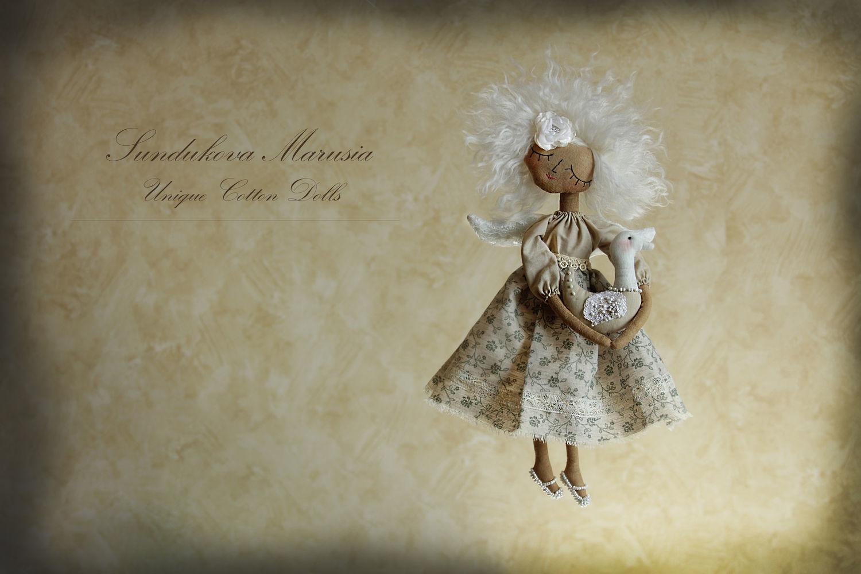 """""""Ангел с гусиком"""" - авторская кофейная куколка, Куклы и пупсы, Москва,  Фото №1"""