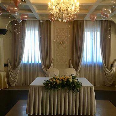 Свадебный салон ручной работы. Ярмарка Мастеров - ручная работа Композиция на стол молодоженов. Handmade.