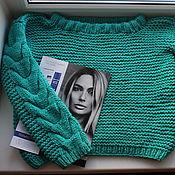 Одежда ручной работы. Ярмарка Мастеров - ручная работа Вязаный oversize свитер ручной работы. Handmade.