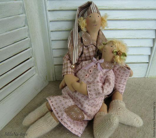 Куклы Тильды ручной работы. Ярмарка Мастеров - ручная работа. Купить клубника со сливками и молочный шоколад. Handmade. Разноцветный