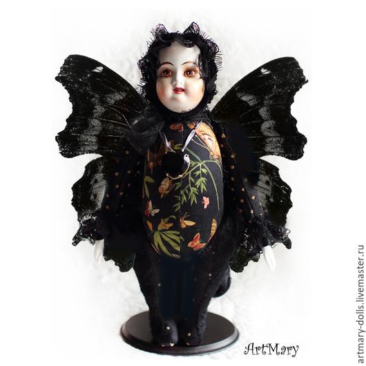 Коллекционные куклы ручной работы. Ярмарка Мастеров - ручная работа. Купить Марго. Handmade. Мотылек, мишки тедди, хлопок