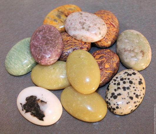 Кабошоны разных минералов 30х20 мм. Цена за 1 шт.: 99 руб.
