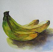 Картины и панно ручной работы. Ярмарка Мастеров - ручная работа Бананы. Handmade.