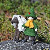 Куклы и игрушки ручной работы. Ярмарка Мастеров - ручная работа Кукла. Кукла интерьерная Снусмумрик с лошадкой. Handmade.