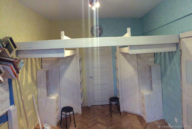 Детский спальный комплекс с угловыми шкафами, Кровати, Москва,  Фото №1